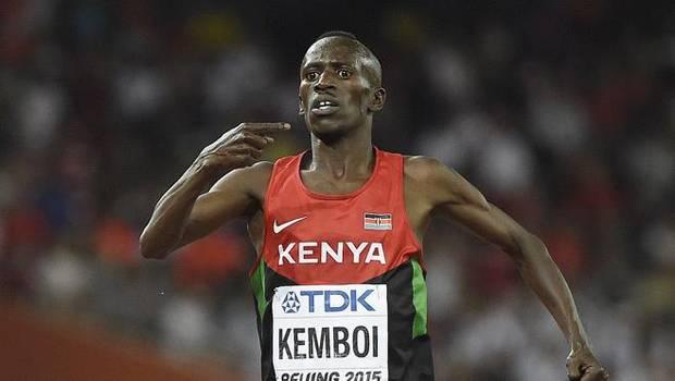 Ezekiel Kemboi, en plena carrera.