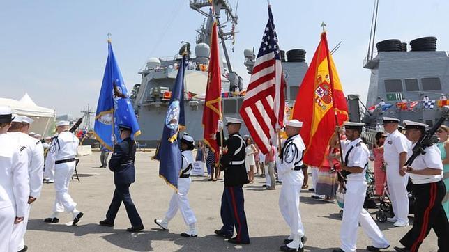Llegada a la base de Rota del destructor USS ROSS, en junio del año pasado