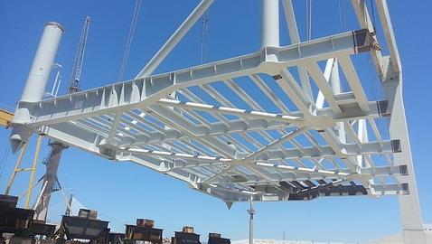 Comienza el montaje en el astillero de Puerto Real de la plataforma de Iberdrola