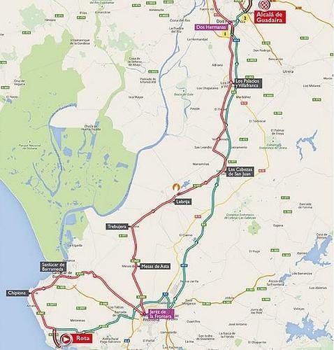 Horario e itinerario de la Vuelta a Espaa 2015 en la provincia de