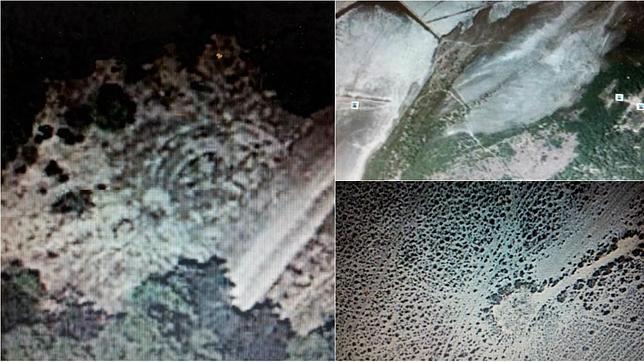 Muestras tomadas desde satélite