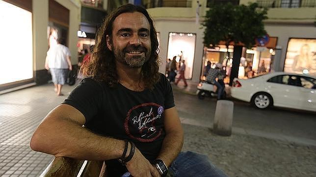 José Quintero, en la gaditana plaza del Palillero