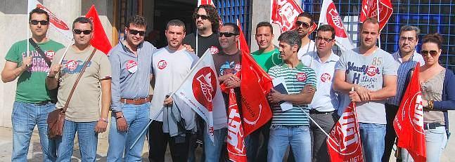 Los trabajadores de la depuradora protestan de nuevo en for Convenio colectivo oficinas y despachos sevilla