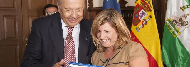 La alcaldesa pide a la Fundación Chile - España su apoyo para conmemorar la Circunnavegación