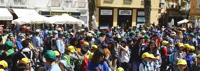 Más de 1.500 scouts invaden Cádiz