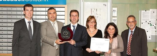 El banco sabadell concede el premio qualis a la sucursal for Oficinas sabadell zaragoza