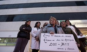 La auxiliar de enfermería en huelga de hambre mantiene su postura