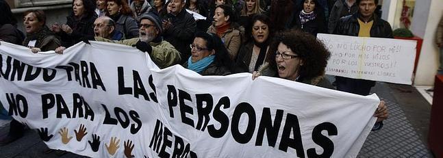 'Marea Ciudadana' recorre Cádiz contra los recortes