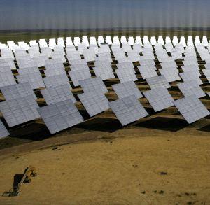 Huerto de paneles solares