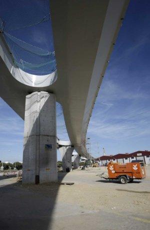 Frenazo en las obras del segundo puente