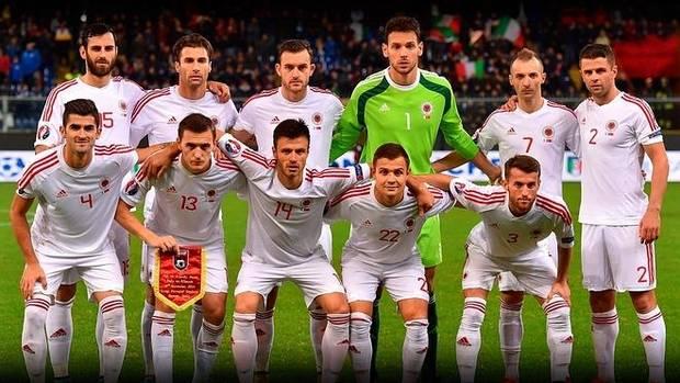 La selección de Albania.
