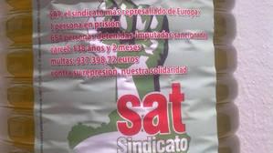 El SAT vende aceite de oliva en cuyo etiquetado se alude al encarcelamiento de Andrés Bódalo