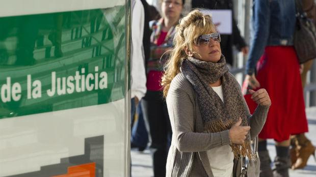 Marisol Yagüe, en una de sus múltiples comparecencias judiciales