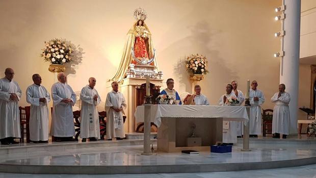 Misa de despedida del sacerdote Blanc Castán