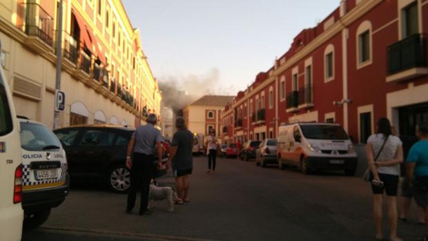 Incendio del dúplex, este pasado domingo