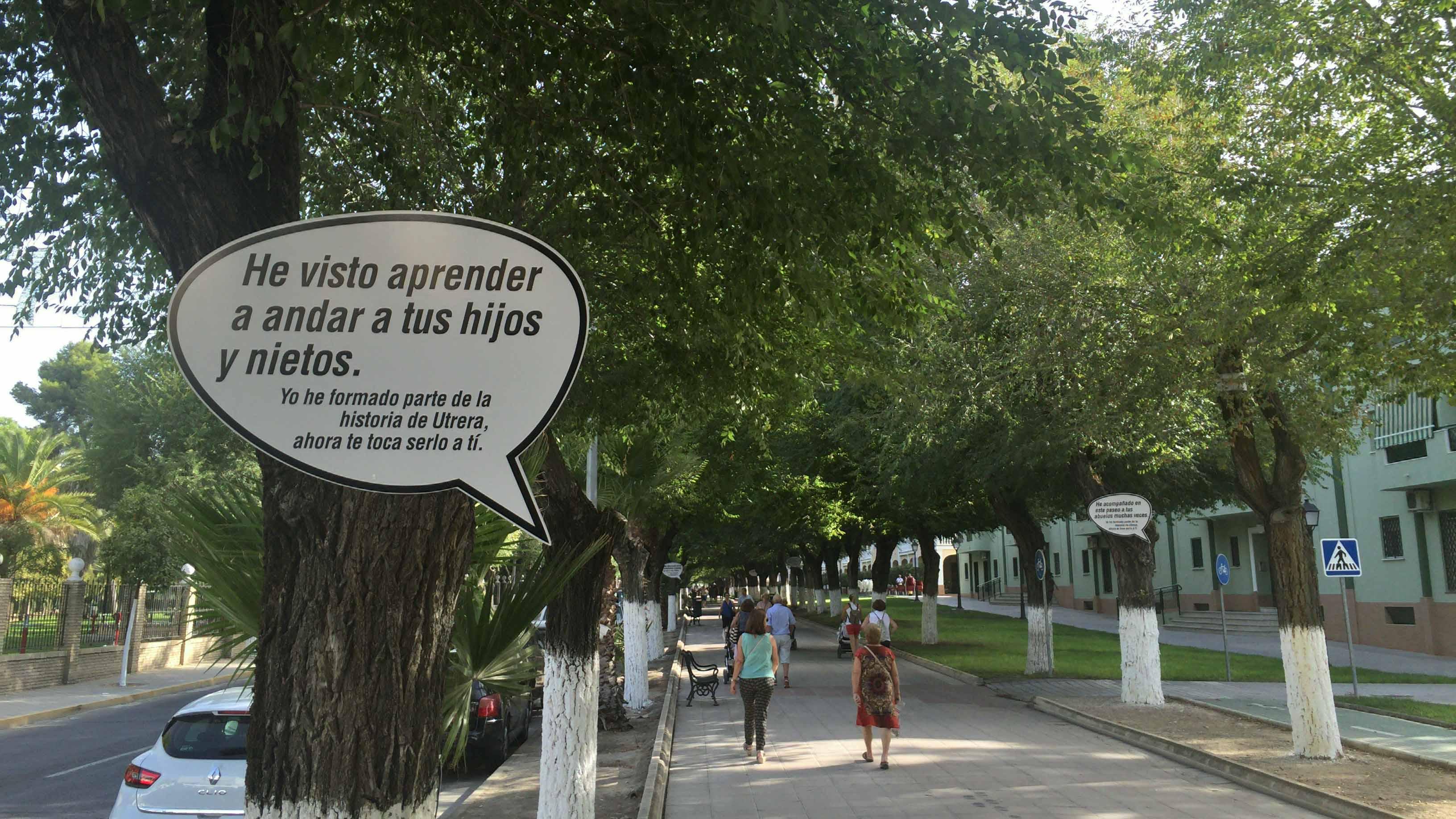 Los árboles del paseo se comunican con los ciudadanos/ G.P.