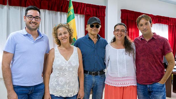 Hill, durante su última visita al municipio de Tabernas / ABC