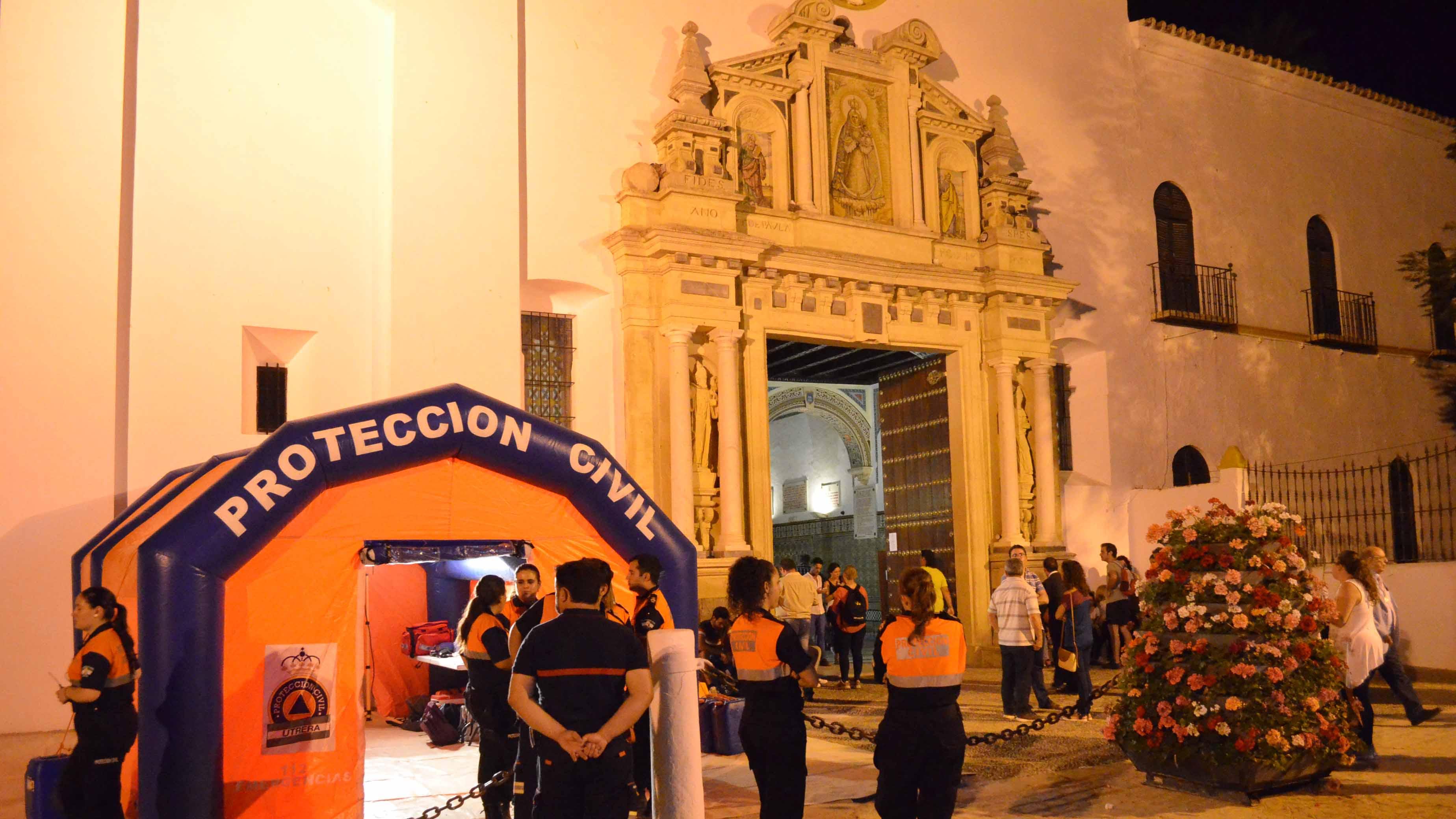 Protección Civil vela por la seguridad de los peregrinos