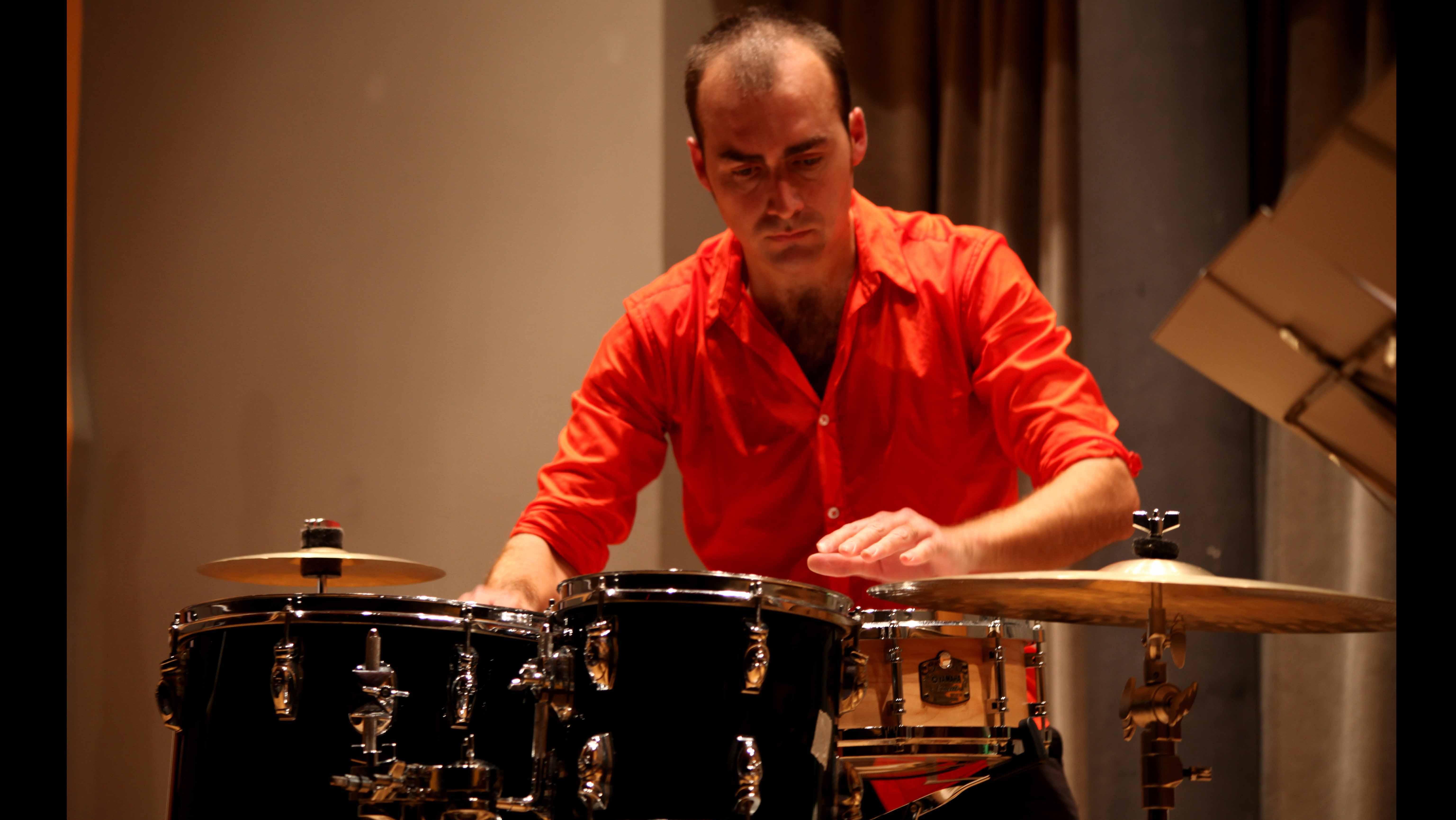 El percusionista utrerano Antonio Moreno