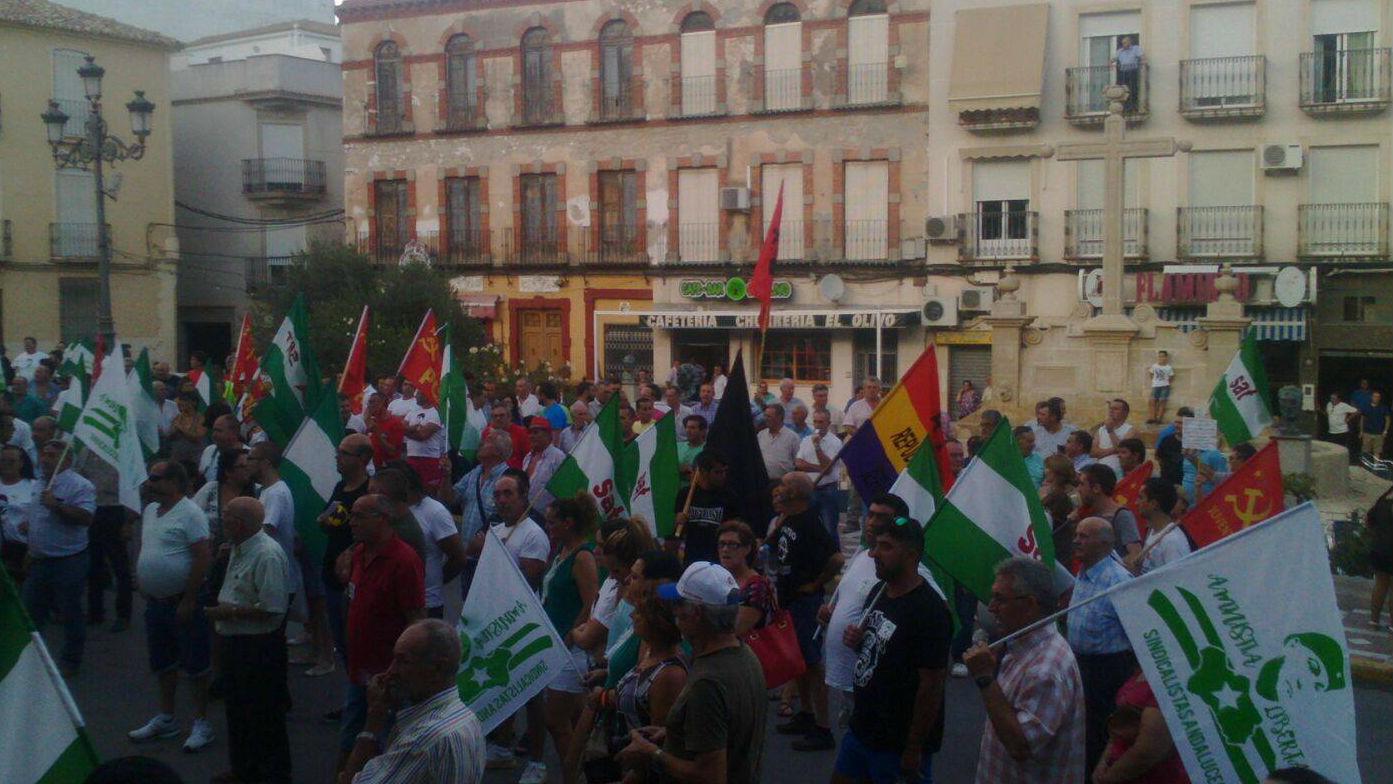 Cerca de 2.000 personas participaron en la manifestación para pedir la libertad de Bódalo.