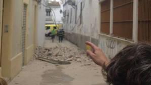 Aparatoso derrumbe en la Escuela de Jerez a dos días de empezar las clases