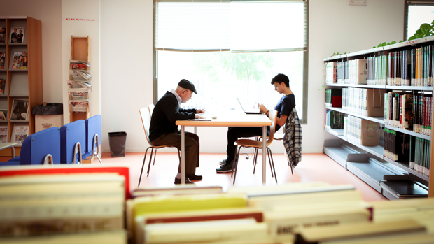 Sala de la biblioteca de Montequinto / ABC