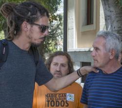 Los diputados de Unidos Podemos, Alberto Rodríguez y Diego Cañamero