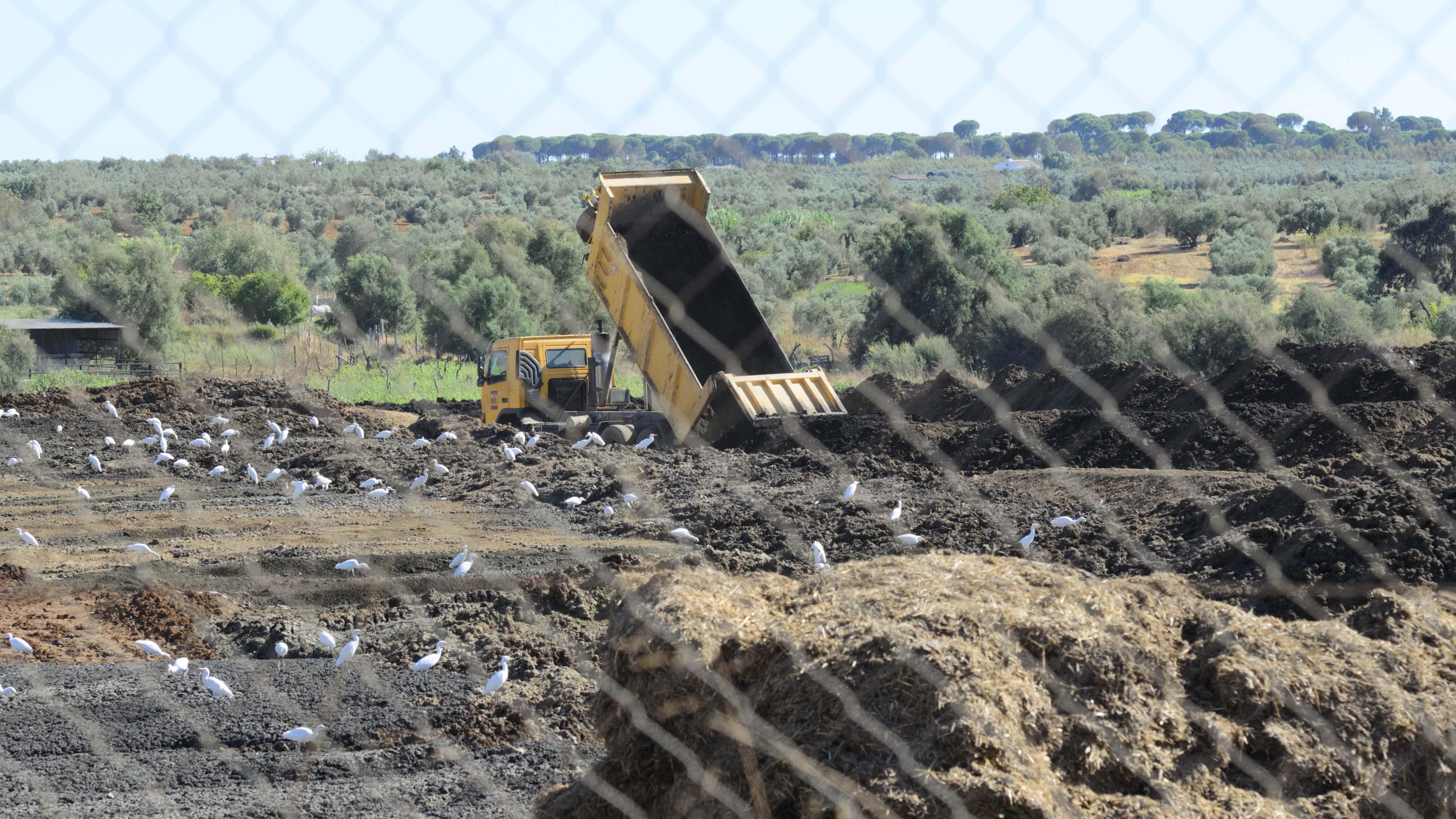 Instalaciones de la planta de compostaje del municipio onubense de Almonte