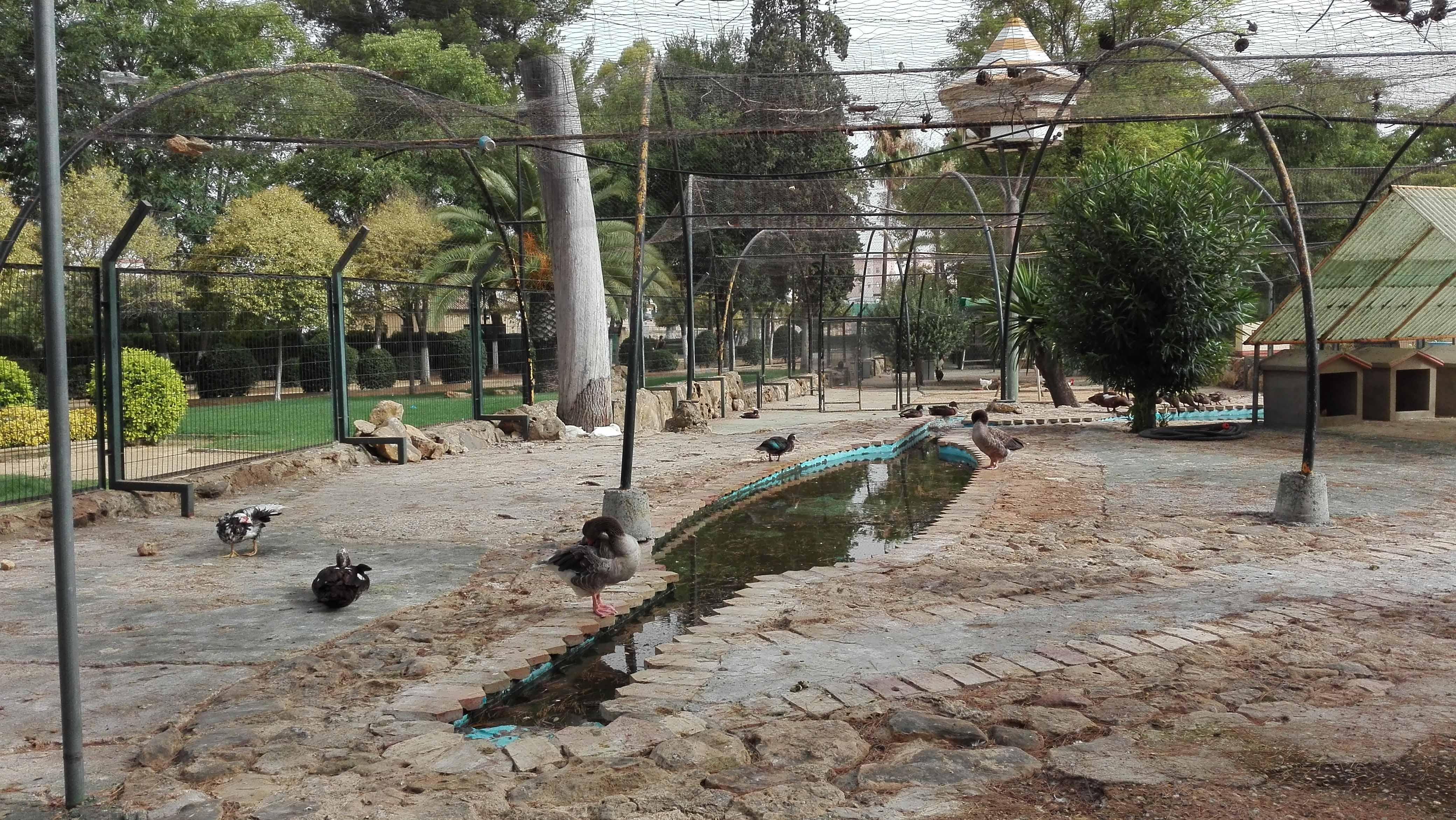 La zona de los animales del parque de Consolación