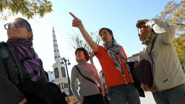 Turistas en el Centro de Málaga / ABC