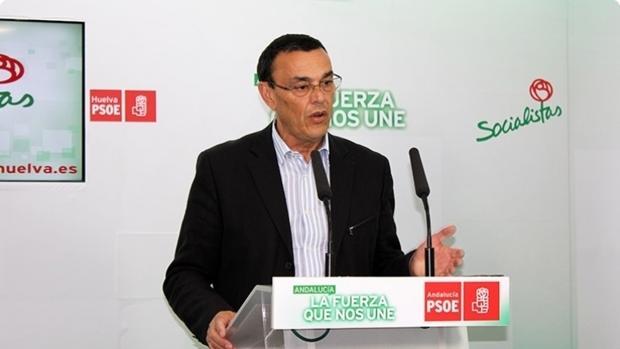 El secretario general del PSOE de Huelva, Ignacio Caraballo,