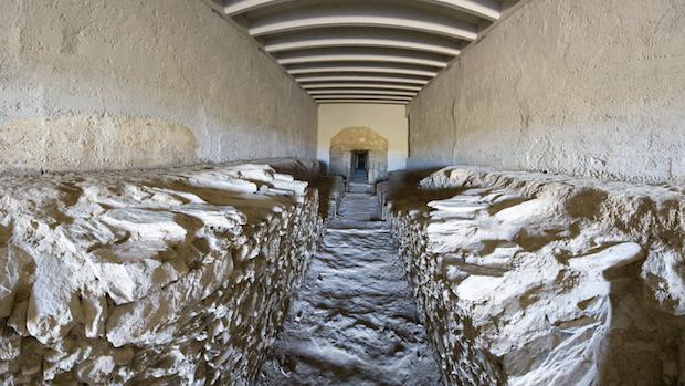 El dolmen de La Pastora se caracteriza por su largo corredor-ABC