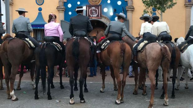Caballistas en el Real de la Feria de Fuengirola