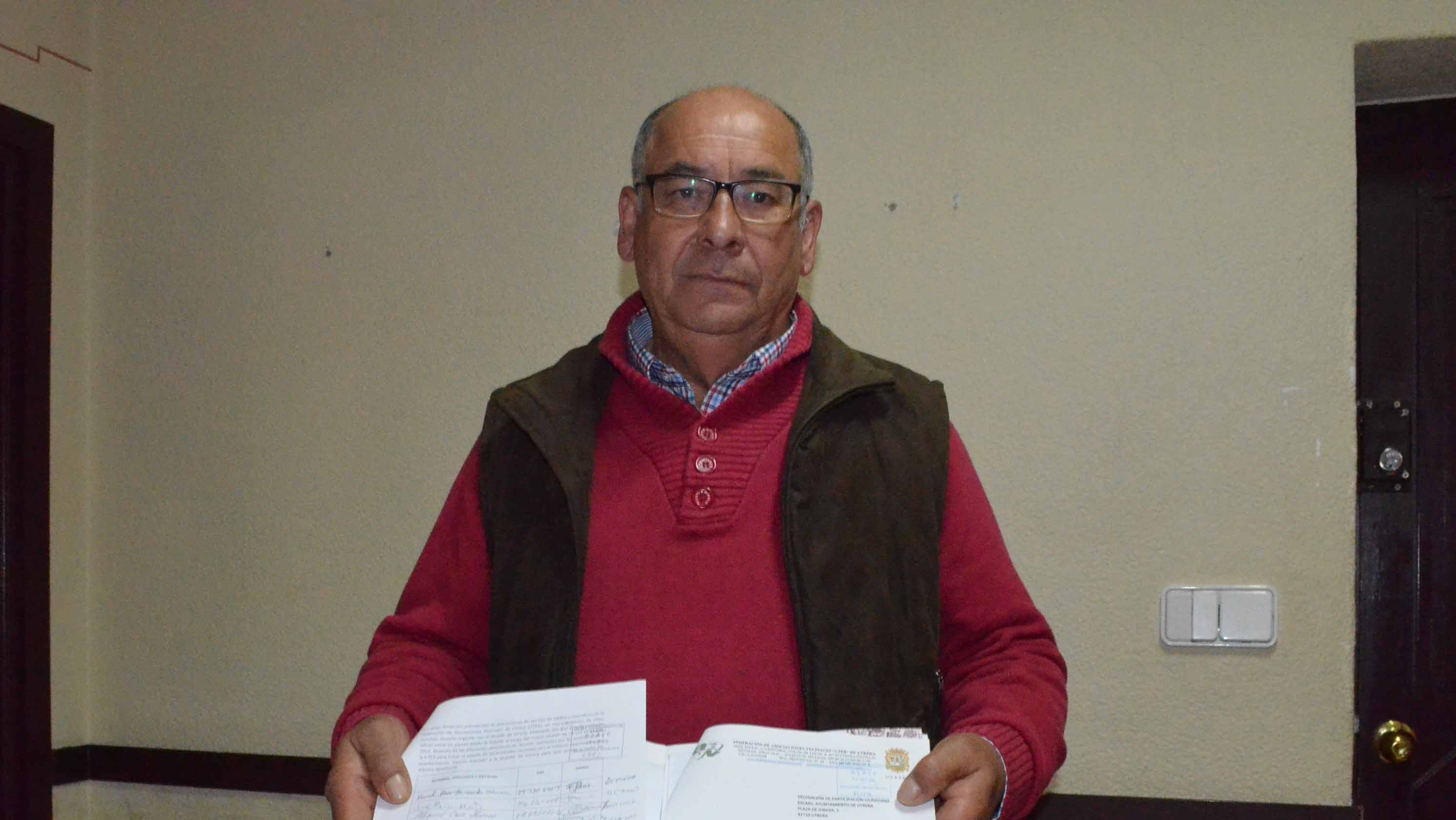 Manuel Martín, actual presidente en funciones de la UTER