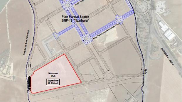 Plano de la nueva ubicación de Ybarra