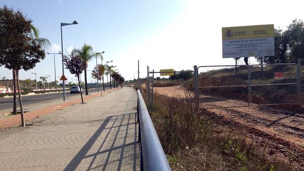 Zona de Entrenúcleos donde irá el acceso a la SE-40