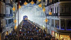 La música se incorpora a la iluminación navideña de Málaga