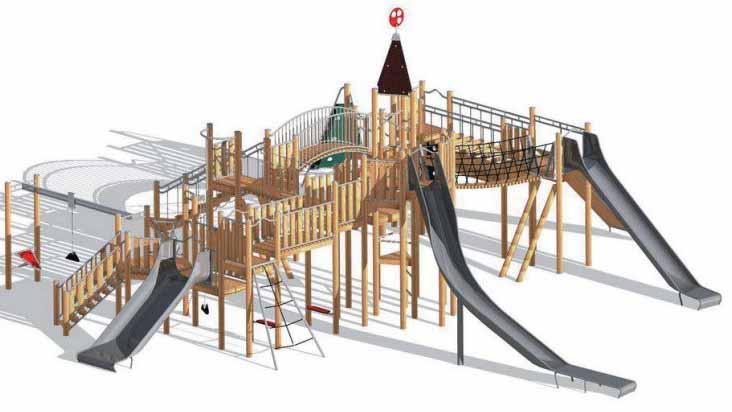 El boceto del proyecto de «Ciudad de los niños» que el equipo de gobierno de Utrera quiere llevar a cabo