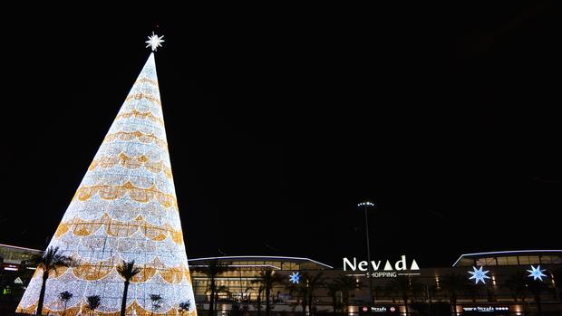 El centro comercial, en la noche de su inauguración