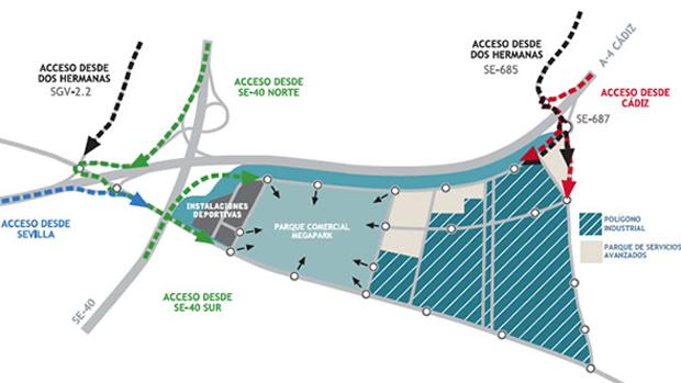 Plano del lugar en el que se construirá Megapark