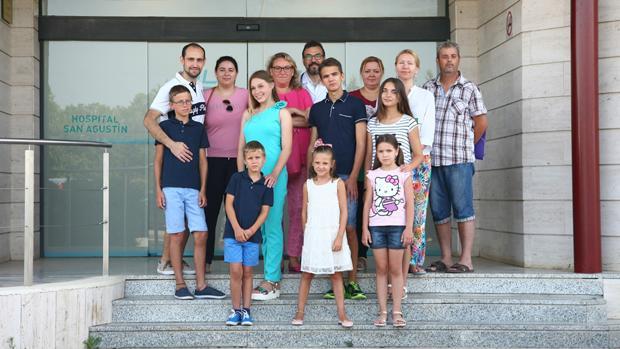 Niños bielorrusos en el hospital San Agustín