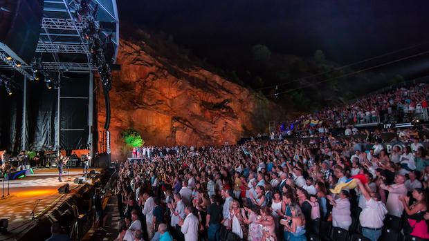 La cantera de Starlite en el concierto de Carlos Vives