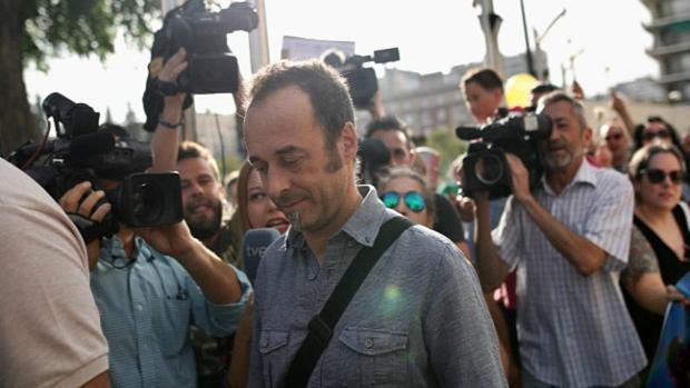 Francesco Arcuri, la expareja de Juana Rivas, en los juzgados de Granada