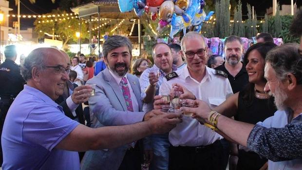 El alcalde, Modesto González, fue el encargado de inaugurar los festejos