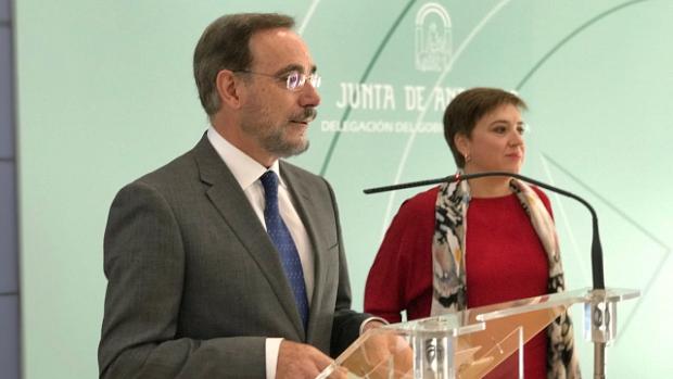 El consejero Felipe López, durante el anuncio de la inauguración del metro de Granada