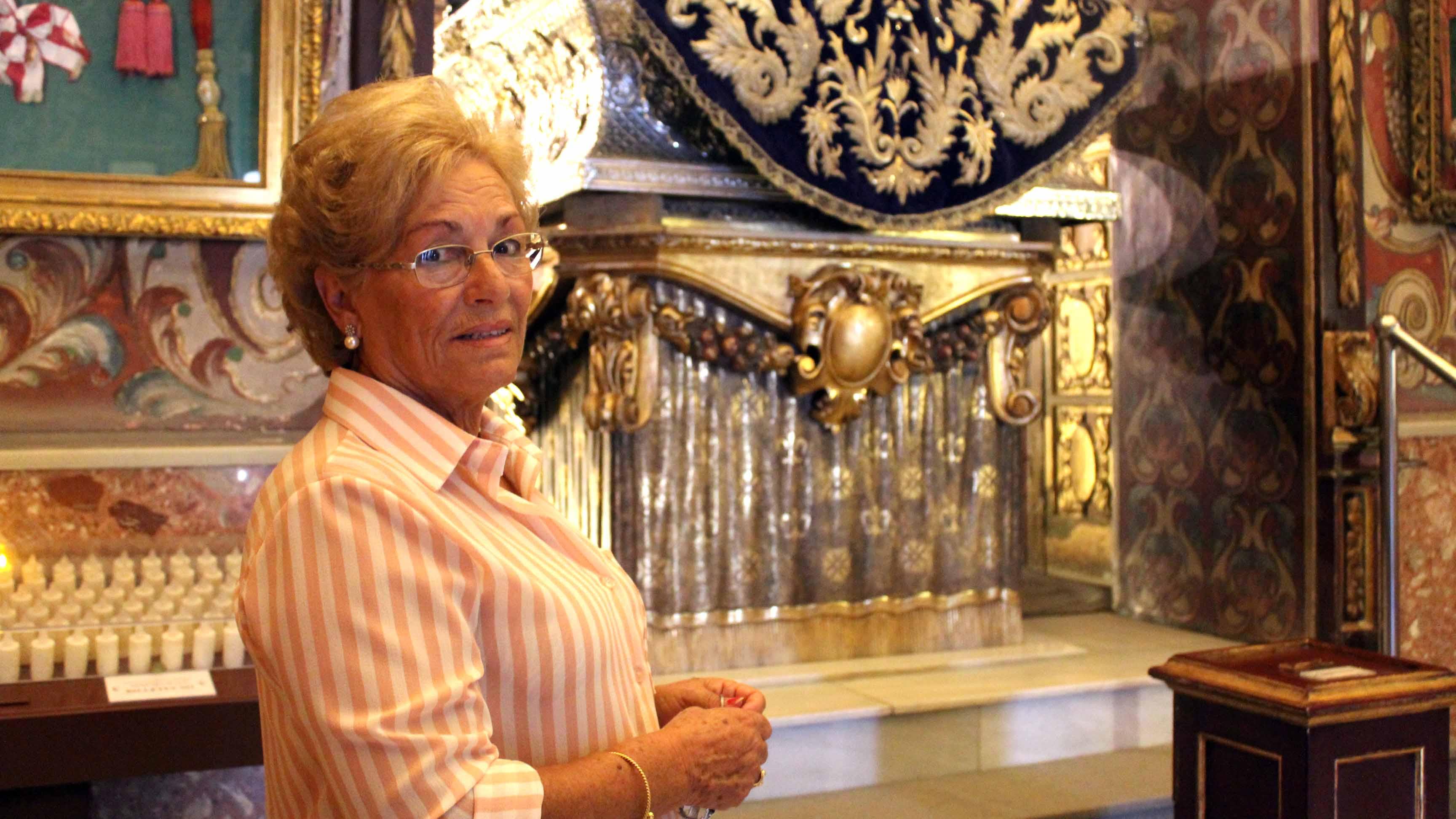 Rosario García no ha perdido su vinculación con el santuario de Consolación