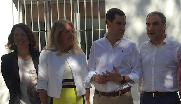 Juanma Moreno en su intervención en Marbella