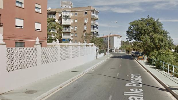Calle Boscán en Torremolinos, donde ocurrió el suceso