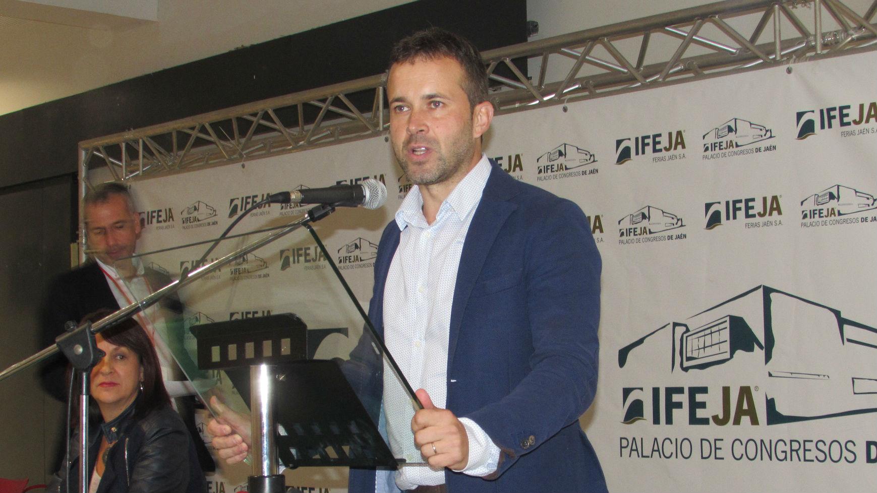 Julio Millán, tras su elección como secretario general del PSOE de Jaén capital