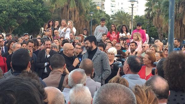 Manu Sánchez y Manolo Medina durante su intervención